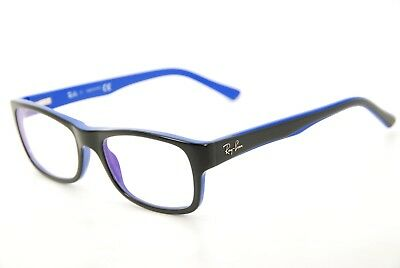 3363063e36 New Authentic Ray Ban RB 5268 5179 Black on Blue 50mm Frames Eyeglasses RX
