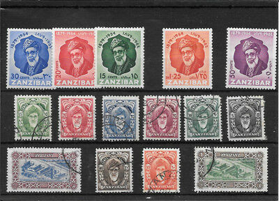 Zanzibar S154 Coll Of Mm And Used Stamps