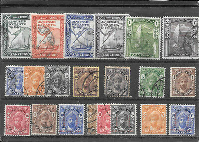 Zanzibar S155 Coll Of Mm And Used Stamps