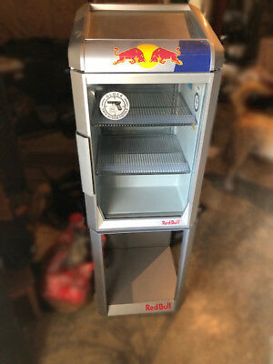 Red Bull Mini Fridge Commercial Grade Led Lights With STAND Man Cave Game Room