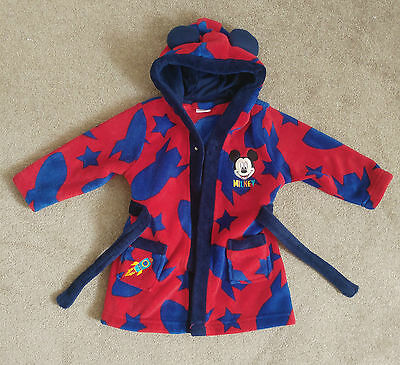 Disney Mickey Mouse Childs Dressing Gown 12-18 Months