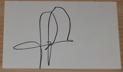 Hakan Sukur Turkey Blackburn Rovers Personally Signed Autograph Index Card