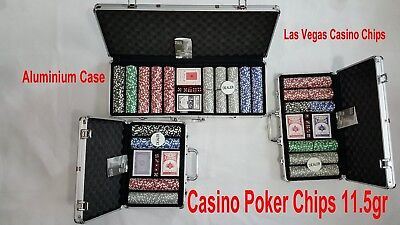 Poker Set 500/300/200 PCS Chips Poker Laser 2 Cards 5 Dice Casino Case Game, UK