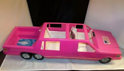 """Rare Vintage TimMee Toy Fashion Girl Barbie Size Pink Stretch Limousine Limo 32"""""""