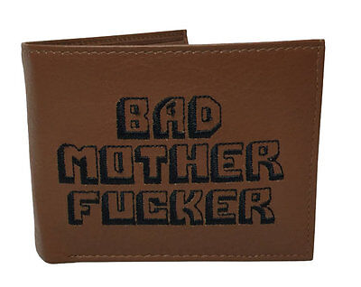 "BMF Wallet ""SAY WHAT AGAIN!"" 100% Genuine Leather Ships from the U.K."