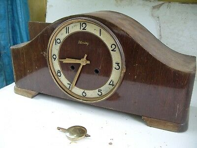 Clock Parts Blessing Striking Clock 3 Bars Dated 1953  Spares Repair