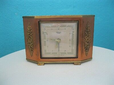 Vintage Smiths Empire Alarmette Small  Mantel Clock, Working Movement, Alarm A/f