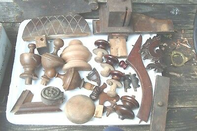 Clock Parts  Mixed  Lot  Of  Finales & Clock Wooden  Parts