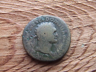 Roman.  Domitian.  81-96Ad.  Bronze Sestertius.  Rare.  Nice Condition