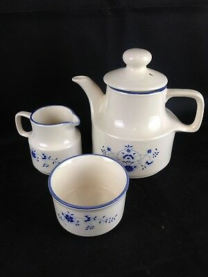 Carrigaline Pottery Teapot Milk Jug & Sugar Bowl - County Cork Ireland