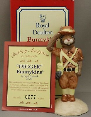 """Royal Doulton Bunnykins """"Digger"""" - DB248 - Limited Edition - Box and certificate"""