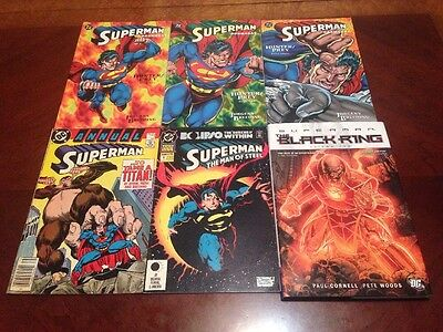 Superman Mixed Lot of 6 Two Annuals & four TPB (1987-2011) Fine to Very Fine