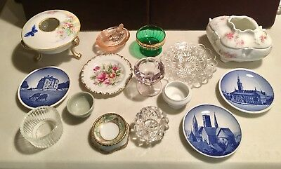 Antique Estate Lot of 15 Pieces Plate Salt Bowl