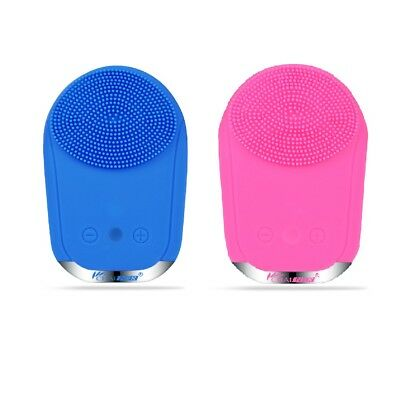 Sonic Facial Cleansing Brush Silicon Vibrating Waterproof Face Massager Cleanser