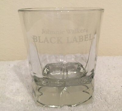 Johnnie Walker Black Label Rocks Glass - Awesome Scotch Glass - Hard To Find