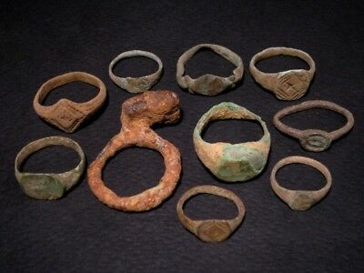 LOT of 10 pcs. ANCIENT ROMAN, BYZANTINE AND MEDIEVAL FINGER RINGS+++
