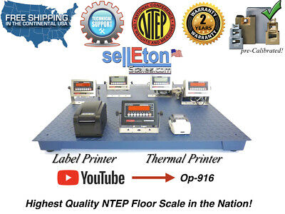 "OP-916 NTEP 48' x 48"" Legal for trade Digital Floor Scale 10,000 lbs x 2"