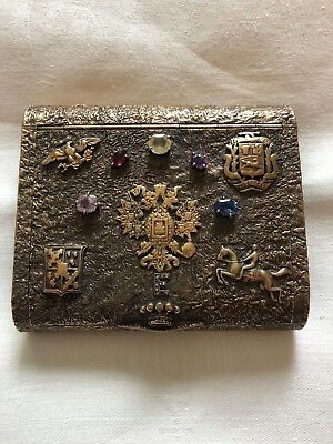 Seaman Schepps Heavy Jeweled Antique Russian gilded Samorodok case