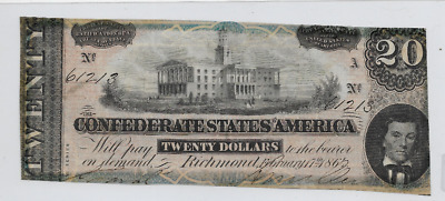 $20 (Confederate Note) 1800's $20 (1800's) $20(Confederate) $20