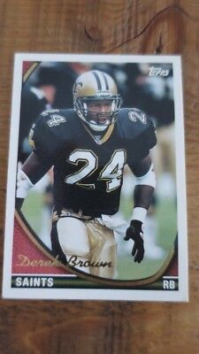 Derek Brown  Saints  Autographed 1994 Fleer #377 Football Card