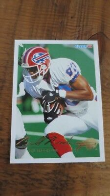 Bill Brooks  Colts   Autographed 1994 Fleer #377 Football Card