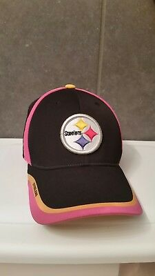 0642918f8 Pittsburgh Steelers BCA pink Reebok Official Sideline Cap Hat Fitted size  S/M