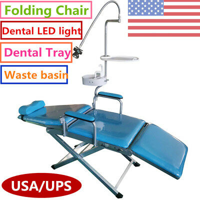 Dental Portable Folding Chair+ LED Surgical Light Lamp+Water System Supply USA