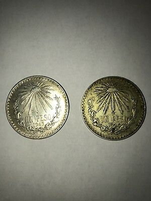 1926 And 1943 Un Peso Silver Coins Lot Ct 11 1909