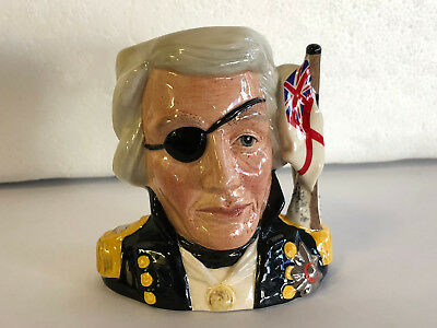 Royal Doulton, Nelson handpainted toby Jug, exclusive made in England