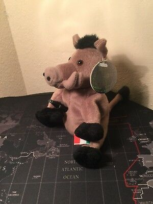 Rare 1999 Collectible Coca-Cola Italy Lors the Wild Boar Beanie plush NWTs
