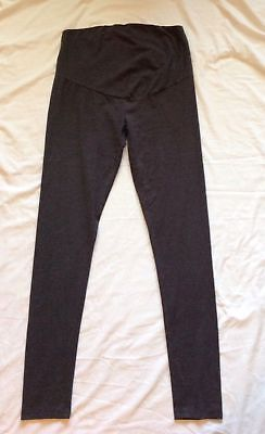 SERRA Womens Charcoal Gray Stretch Secret Belly Maternity Leggings Size Medium