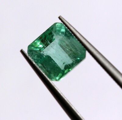 0.94 Ct Natural Emerald Loose Octagon Cut Rich Green Color Gemstone