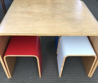 In Your Room Kids Molded Ply Table & Chairs Set rrp $1000