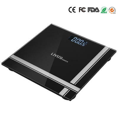 396LBS LCD Digital Bathroom Body Weight Scale Tempered Glass,Temperature display