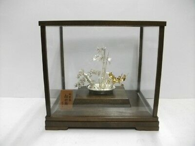 The tree of the  pine, bamboo, and plum of virgin silver. BONSAI. #103g/ 3.63oz.