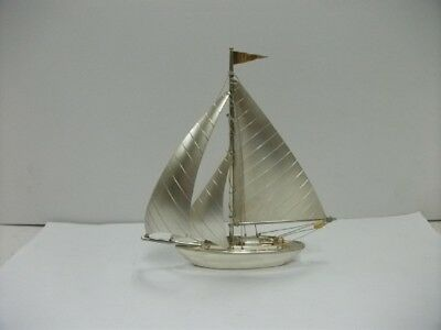 The sailboat of Silver970 of Japan. #50g/ 1.76oz. Japanese antique