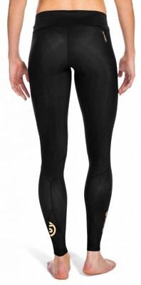 SKINS A400 Long Running TIGHTS Women A400 Unused NEW - Large - Black/Silver