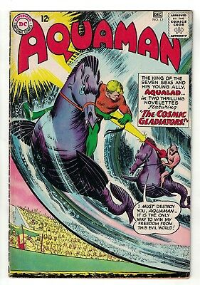 DC Comics AQUAMAN Vol 1 No 12  SILVER AGE justice league vgf 5.0 1964
