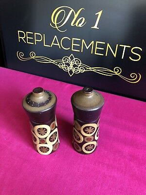 Denby Arabesque Salt And Pepper Pots / Shakers 2 Sets Available
