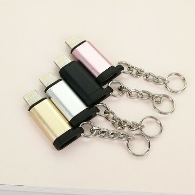 For iPhone 6 7 8 Type-C to Lightning  Converter Adapter Connector With Chain US
