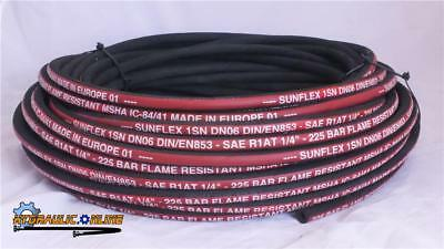 "Standard Hydraulic Hose 1/4""ID SAE100R1-04 1Wire 3265 PSI pressure 20 Meter Coil"