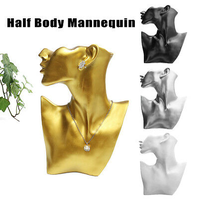 Resin Mannequin Necklace Earring Jewelry Display Head Bust Stand Holder Rack