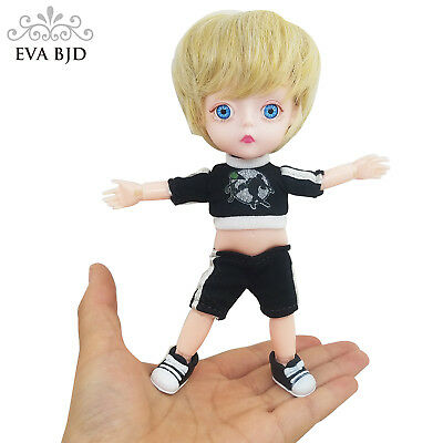 "1/8 Boy 15cm 5.9"" SD BJD Doll + Clothes Wig Shoes jointed dolls PVC Soft Head"
