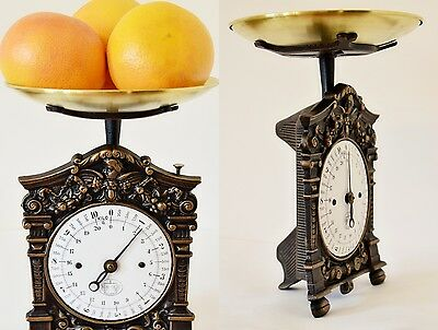 Antique, Old Style, Shabby Chic, Vintage, Old German Kitchen Scale with ANGEL