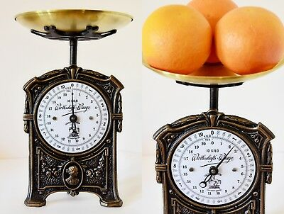 Old Style, Vintage, Antique, Shabby Chic, German Kitchen Scale - WOMAN'S FACE