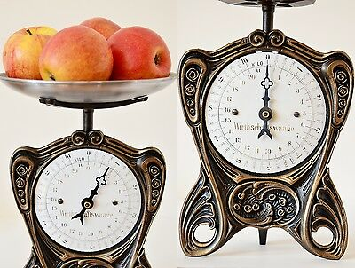Antique, Shabby Chic, Vintage, Old Style, German Kitchen Scale