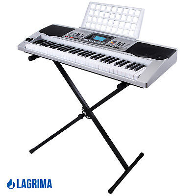 61 Key Music Electronic Keyboard Digital Electric Piano Organ with Stand