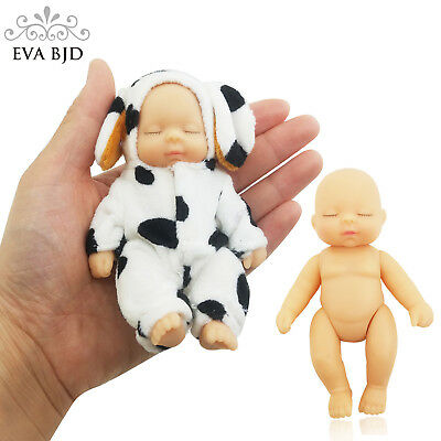 1/12 Keychain Sleeping Baby BJD SD Doll + Clothes 5 jointed dolls movable Gift