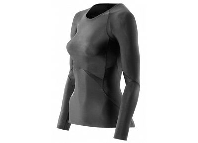 SKINS Longsleeve Recovery TOP Women RY400 Unused NEW - Large - Black