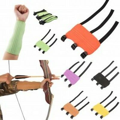 Archery Shooting Arm Guard Bracer Safe Pull Bow Protection with 7 colors choice